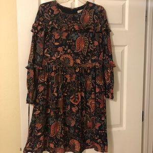 Loft Hydrangea Bouquet Ruffles Dress - Size 10